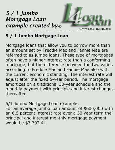 5 1 jumbo mortgage loan