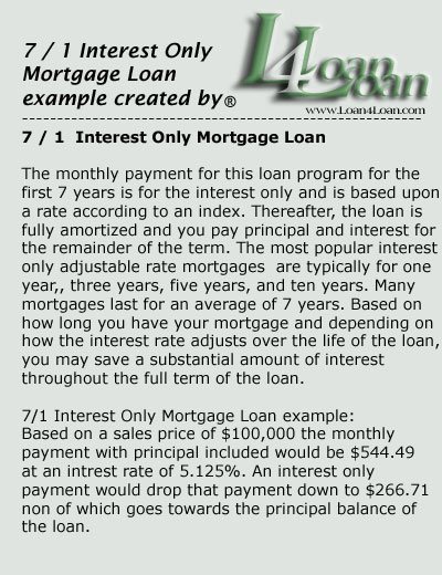 7 1 interest only mortgage loan