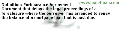 forbearance agreement