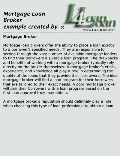 mortgage loan broker