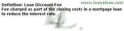 mortgage loan discount fee