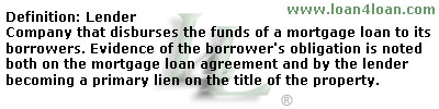 mortgage loan lender