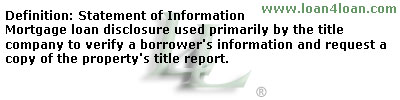 statement of information